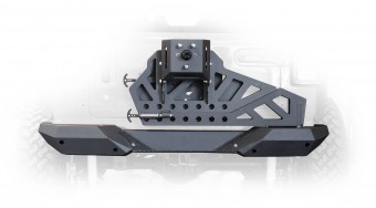 Jeep JL Frame Mounted Tire Carrier with Bumper End Caps 18-Present Wrangler JL DV8 Offroad