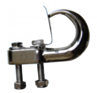 Tow Hook, 10,000lb(4535kg) capacity,  chrome plated finish