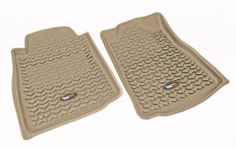 Floor Liners, Front, Tan; 10-13 Toyota 4Runner