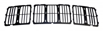 Front Upper Grille for 2014-2016 Jeep WK Grand Cherokee w/ Louvered Grille