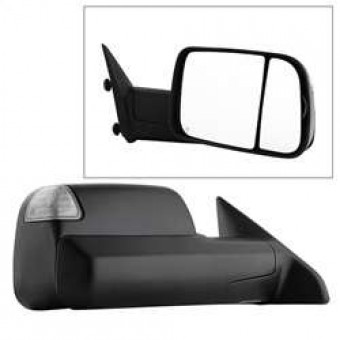 POWER Heated Adjust Mirror with LED Signal Black Housing - Right