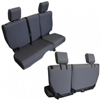 Jeep JK Seat Cover Rear Split Bench 4 Door Baseline Performance 07-10 Wrangler JKU Graphite Bartact