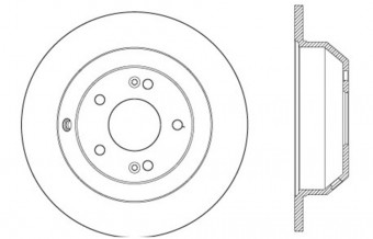 StopTech Sport Cross Drilled Brake Rotor; Rear Right