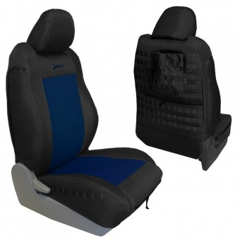 Toyota Tacoma Seat Covers 09-15 Tacoma TRD Front Coyote/Navy Tactical Series Pair Bartact