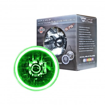Pre-Installed Lights 5.75 in. Sealed Beam, Green