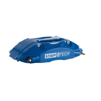 StopTech Big Brake Kit; Blue Caliper, Slotted Two-Piece Rotor, Front