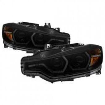 Projector Headlights - LED DRL - Black Smoke