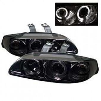 LED Halo - Amber Reflector - Smoke - High H1 - Low H1