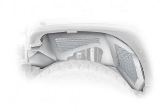 Jeep JK Inner Fender Front Aluminum Raw 1 Piece 07-17 Wrangler JK 2/4 Door DV8 Offroad