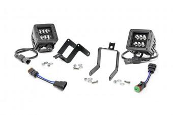 Ford 2-inch Cree LED Fog Light Kit (Black Series | 11-16 F-250/350)