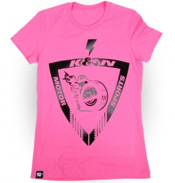 T-Shirt; Earth, Wind, Speed, Hot Pink