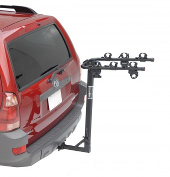 Traveler 3, 1.25'' and 2'' Hitch Rack carries 3 bikes