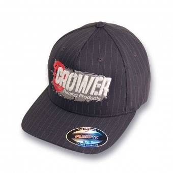 CAP FLEXFIT DARK GRAY PINSTRIPE W/3D EMBR OFFROAD FRONT & BACK (SMALL/MEDIUM)