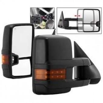 G2 Power Heated Amber LED Signal Telescoping Mirror - SET