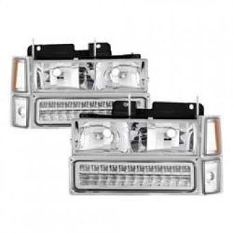 Corner/LED Bumper Headlights - Chrome