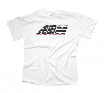 T-Shirt; AEM Stars And Stripes, White - 3X