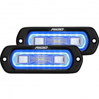 SR-L SERIES OFF-ROAD SPREADER POD 3 WIRE FLUSH MOUNT WITH BLUE HALO; PAIR
