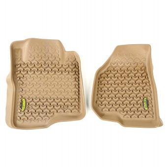 Floor Liners, Front, Tan; 11-12 Ford F-250/F-350