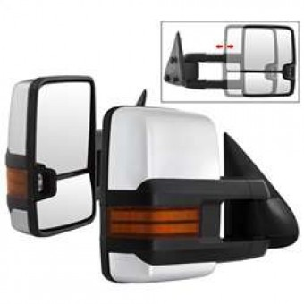 G3 LED Signal Telescoping Mirror Chrome Cover - SET