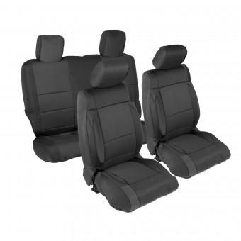 Smittybilt NEOPRENE SEAT COVER SET FRONT/REAR - BLACK JEEP, 07-12 JK - 2 DOOR 471401