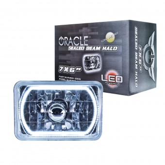Pre-Installed Lights 7x6 in. Sealed Beam, White