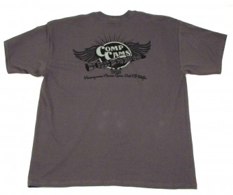 T-Shirt, Large COMP CAMS Gray Wings