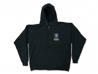 ICON STANDARD HOODY BLACK - MEDIUM