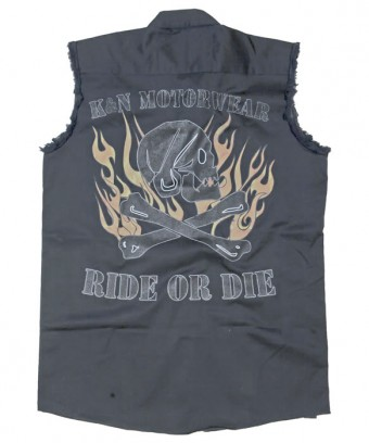 Shirt; Ride Or Die; Charcoal - L