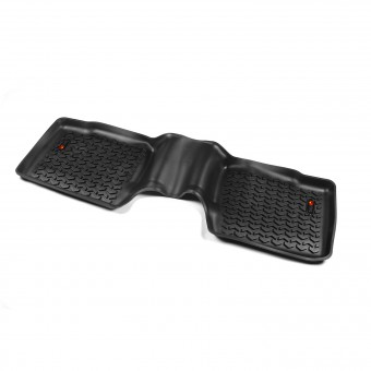 Floor Liners, Rear, Black; 11-14 Ford Explorer