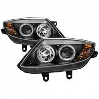 Projector Headlights - Xenon/HID - LED Halo - Black - High H1