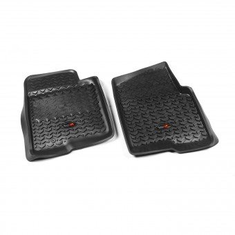 Floor Liners, Front, Black; 09-10 Ford F-150 Ext/Reg/SuperCrew
