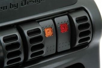 Switch Panel; Black; Lower;
