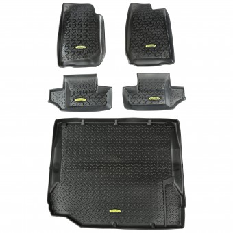 Floor Liners, Kit, Black, 2-Door; 07-10 Jeep Wrangler JK