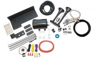 Trail Blaster? bolt-on air horn kit for Jeep JK w/ custom-fit mounting brackets