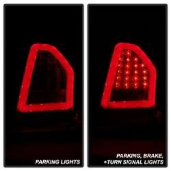 Version 2 Light Bar LED Tail Lights - Red Clear