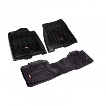 Floor Liners, Kit, Black; 07-14 Chevrolet/GMC Fullsize Pickup/SUV
