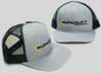 Hat - Grey With Black Mesh