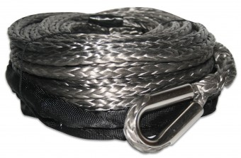 Synthetic Rope 9.5mm x 75ft w/10ft Abrasion Sleeve