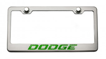 """Rear Tag Frame """"Dodge"""" Synergy Green Solid"""