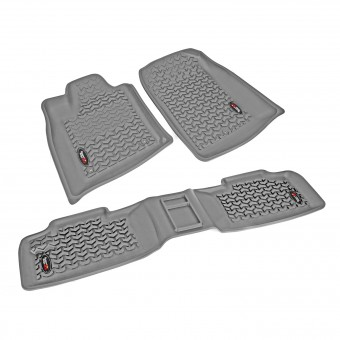 Floor Liners, Kit, Gray; 11-16 Dodge Durango/Jeep Grand Cherokee WK