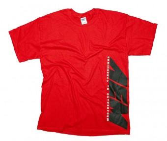 T-Shirt; AEM Classic, Red - Xl