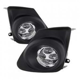 Daytime DRL LED Running Fog Lights with Switch - Clear