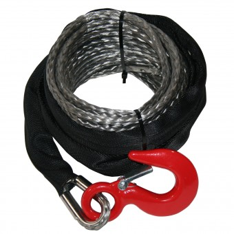 8mm x 50ft Synthetic Rope, Grey
