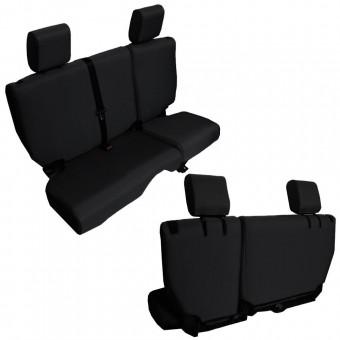 Jeep JKU Seat Covers Rear Split Bench 13-17 Wrangler JKU Baseline Performance Black Bartact