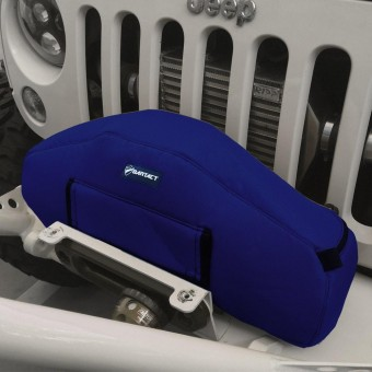 Warn Zeon Winch Cover Vinyl Navy Bartact