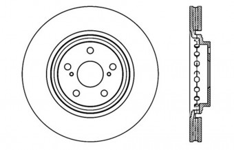 StopTech Sport Drilled/Slotted Brake Rotor; Front Left