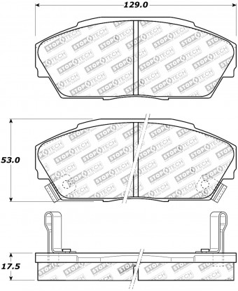 StopTech Street Brake Pads; Front with Shims and Hardware
