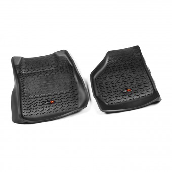 Floor Liners, Front, Black; 99-07 Ford F-250/F-350 Ext/Reg/SuperCrew