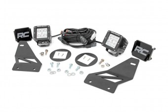 Rough Country Nissan LED Fog Light Kit (05-18 Frontier)