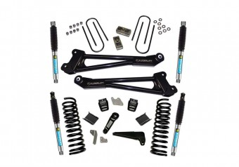 4 Lift Kit-13-18 Ram 3500 4WD-Diesel - Replacmnt Radius Arms w/ Bilstein Shocks